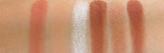 Essence Spice it up Eyeshadow Palette Review - Swatches Reihe 1