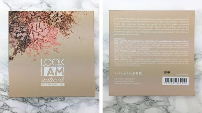 Look by Bipa - I am natural Eyeshadow Palette Review - Verpackung