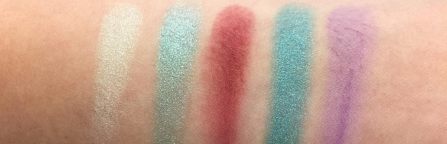 Essence - Disney Princess Ariel Eyeshadow Palette Review - Swatches Reihe 1
