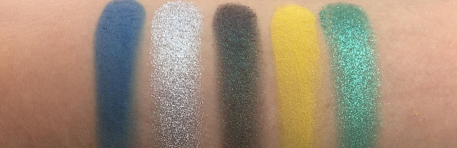 Essence - Disney Princess Ariel Eyeshadow Palette Review - Swatches Reihe 2