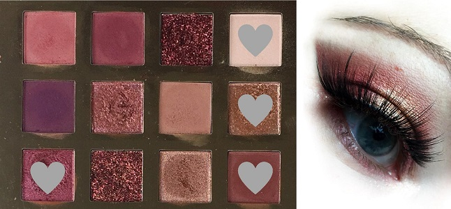 Essence - From Santa with Love eyeshadow Palette - Look 1