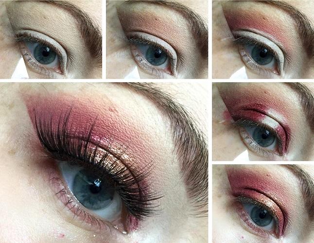 Make up Tutorial - Weihnachtslook 1 - Collage