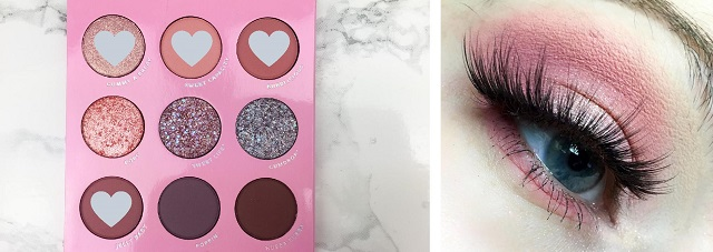 Colourpop - Candy Button Lidschatten Palette - Review - Look rosa