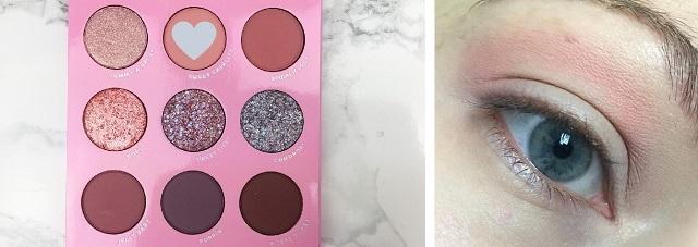 Eyemakeup Tutorial - Colourpop Candy Button Palette - rosa und lila Look - 1