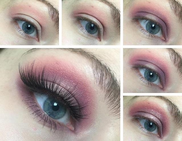 Eyemakeup Tutorial - Colourpop Candy Button Palette - rosa und lila Look -Collage
