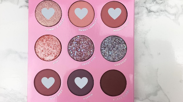 Eyemakeup Tutorial - Colourpop Candy Button Palette - rosa und lila Look - Farben