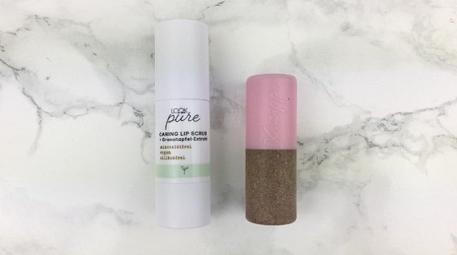 Look by Bipa - Pure Caring Lip Scrub - Review -Größenvergleich Kneipp Lippenpflege