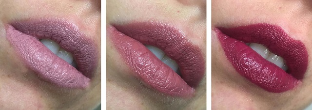 Revolution Pro - New Neutral Satin Matte Lipsticks - Review - Tragebilder