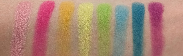 BH Cosmetics - Take me back to Brazil Palette Review - Swatches Reihe 1
