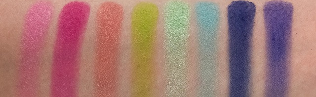 BH Cosmetics - Take me back to Brazil Palette Review - Swatches Reihe 2