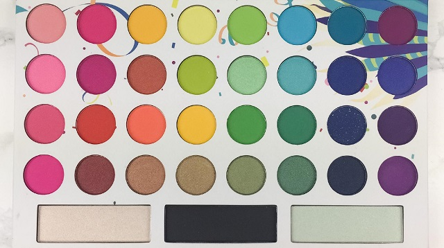 BH Cosmetics - Take me back to Brazil Palette Review - alle Farben