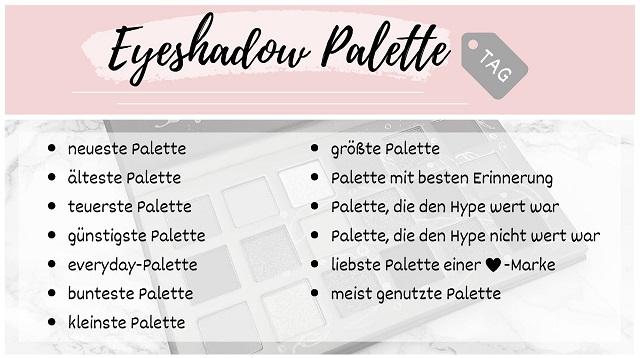 Eyeshadow Palette TAG - Juni 2020 - Fragen