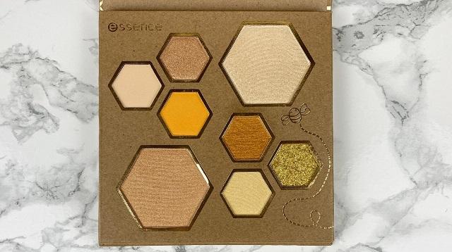 Essence - Wanna bee my Honey Eyeshadow und Highlighter Palette Review - alle Farben