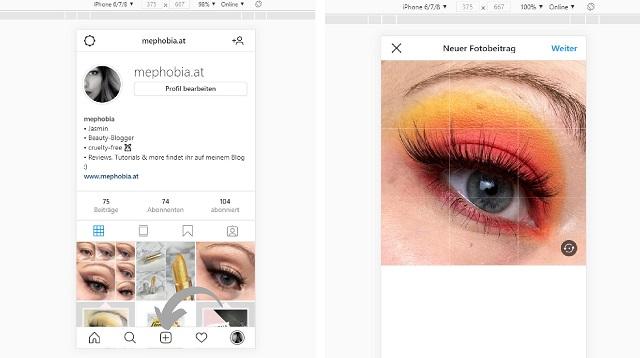 Instagram auf Computer verwenden - Bild posten