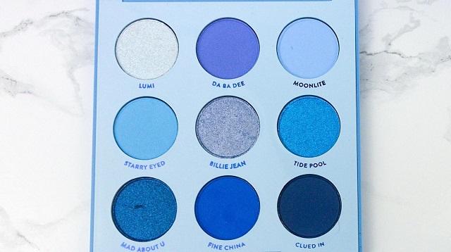 Colourpop - Blue Moon Palette Review - alle Farben