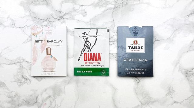 Bipa Bonusbox September 2020 - Parfumproben und Diana Franzbranntweintuch