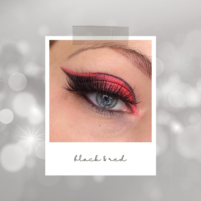 Makeup Inspiration für Silvester - Black and Red Look