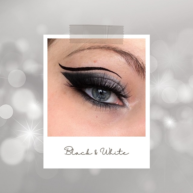 Makeup Inspiration für Silvester - Black and White Look