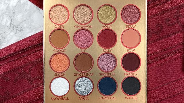 Bh Cosmetics Hohoho Weihnachtskollektion 2020 - Nice Palette Review - Farben