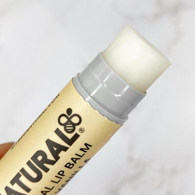 Bee Natural - Lip Balm Coconut Vanilla Review - Close up