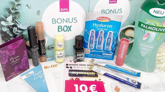 Bipa Bonusbox Jänner 2021 - gesamter Inhalt