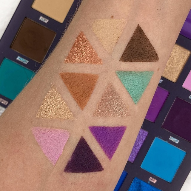 By Beauty Bay - Book of Magic Palette Review - Swatches Reihe 1 und 2