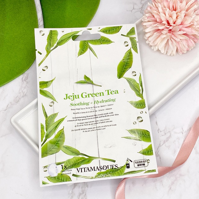 Glossybox Januar 2021 Unboxing - Vitamasques Jeju Green Tea Sheet Face Mask