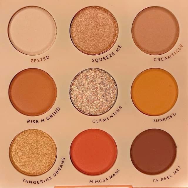 Colourpop - Orange you glad Palette - Review Farben