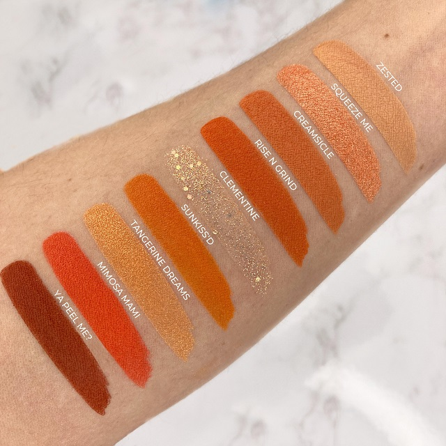 Colourpop - Orange you glad Palette Review - Swatches