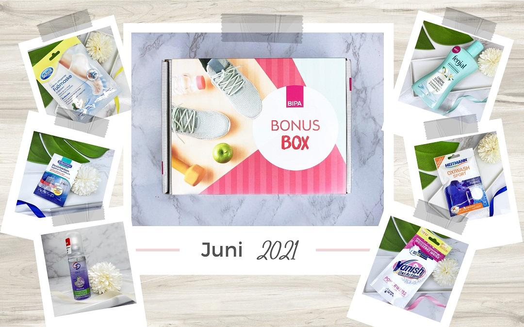Bipa Bonusbox Juni 2021 Unboxing - Beitragsbild