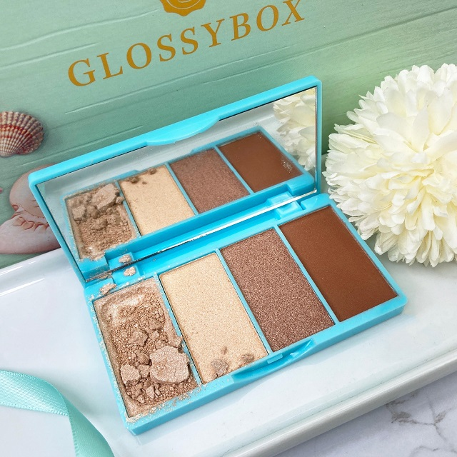 Glossybox Juli 2021 Unboxing - Bellapierre Ultra Glow Highlighting and Bronzing Palette