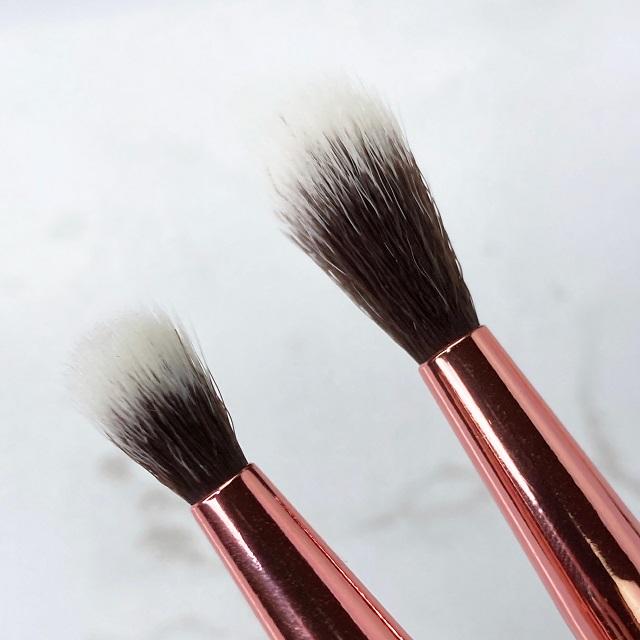Bh Cosmetics x Alycia Marie Pinselset Review - Round Detailing Brush Blending Brush Vergleich
