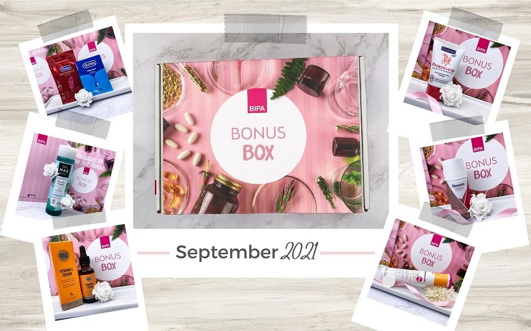 Bipa Bonusbox September 2021 Unboxing - Beitragsbild