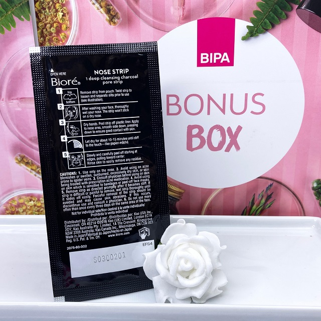 Bipa Bonusbox September 2021 Unboxing - Biore Aktivkohle Clear up Strips