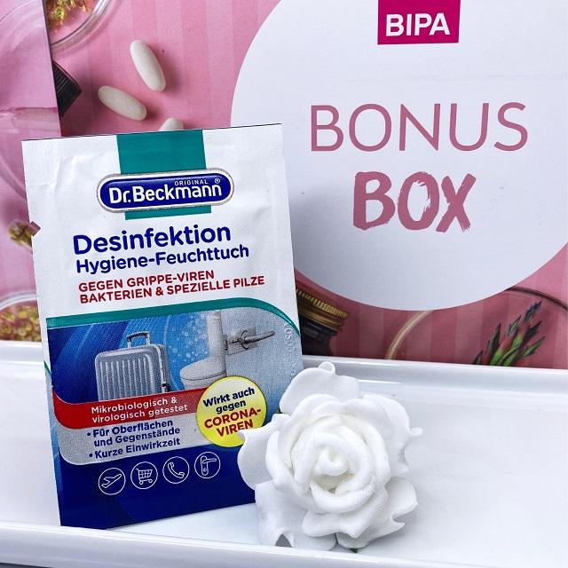 Bipa Bonusbox September 2021 Unboxing - Dr Beckmann Desinfektionstuch