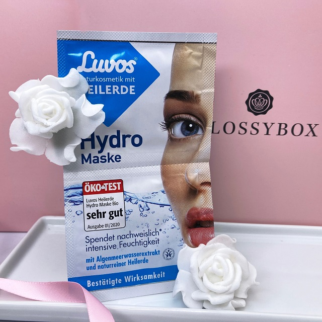 Glossybox September 2021 Unboxing - Luvos Hydro Maske