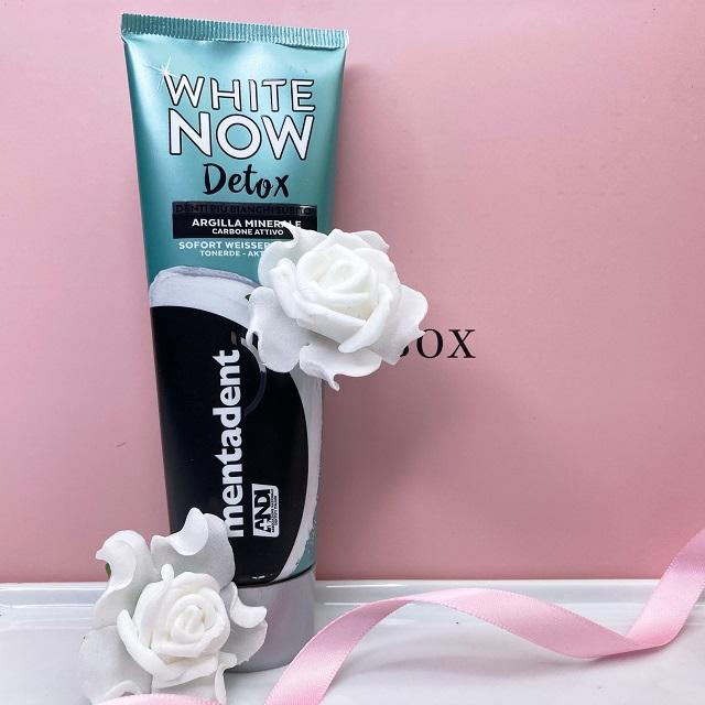 Glossybox September 2021 Unboxing - Mentadent White Now Detox Zahnpasta